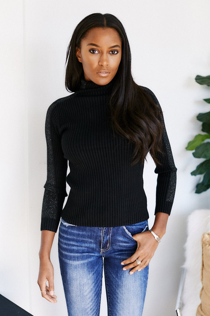 fab'rik - Caelum Long Sleeve Shoulder Detail Turtleneck Sweater ProductImage-13541957599290