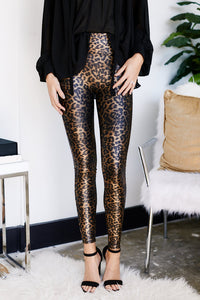 Spanx Leopard Faux Leather Legging