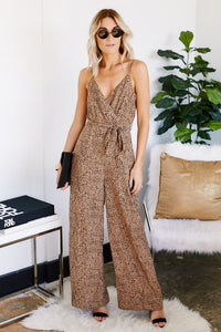 Silas Spotted Tie Waist Jumpsuit
