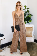 Load image into Gallery viewer, Silas Spotted Tie Waist Jumpsuit