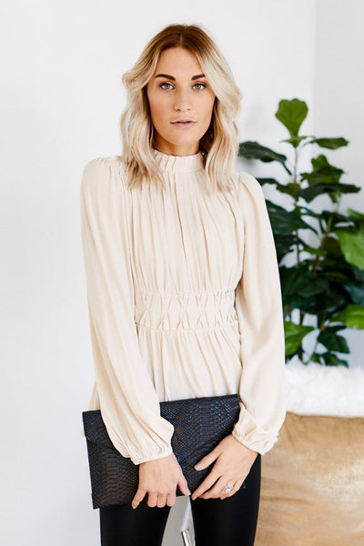 fab'rik - Madelyn Pleated Detail Long Sleeve Top image thumbnail