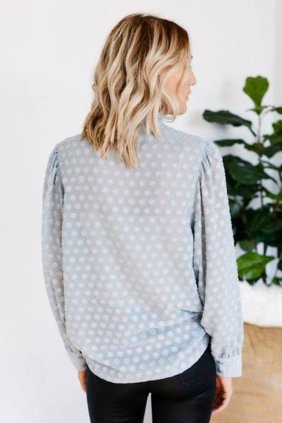 fab'rik - Lily Swiss Dot Long Sleeve Blouse image thumbnail
