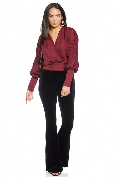 fab'rik - Blank NYC The Grand Dame Velvet Flares image thumbnail