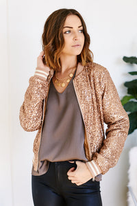 Cher Allover Zip Sequin Jacket
