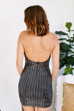 Load image into Gallery viewer, Kinzey Sequin Halter Dress