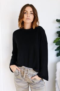 Z Supply Premium Fleece Flare Sleeve Top