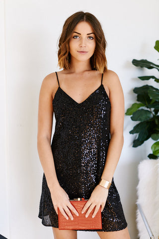 Laylee Sequin Swing Dress