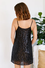 Load image into Gallery viewer, Laylee Sequin Swing Dress