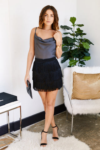 Paige Fringe Mini Skirt