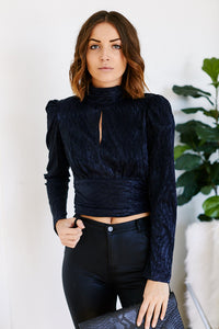 Ivy Puff Sleeve Tie Back Top