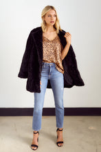 Load image into Gallery viewer, SALE - Memphis Faux Fur Jacket