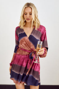 SALE - Colby Tie Dye Wrap Dress