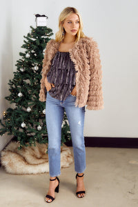 Cordova Layered Faux Fur Jacket