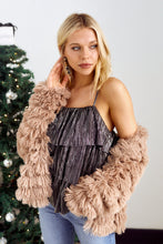 Load image into Gallery viewer, Cordova Layered Faux Fur Jacket