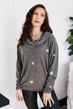 Load image into Gallery viewer, Poppy Star Print Cowl Neck Top