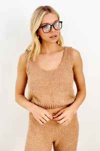 Hollis Cropped Sleeveless Sweater