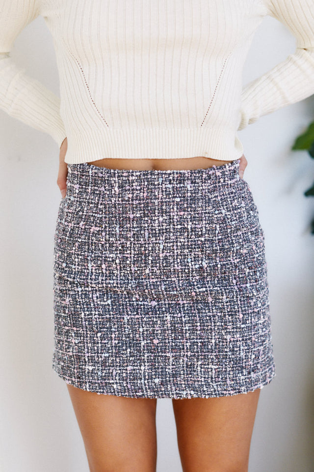 Rosie Tweed Mini Skirt