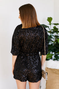Livvy Wrap Sequin Rompers