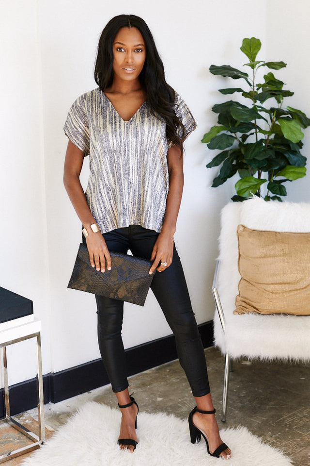 Marion Metallic Blouse