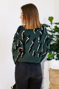 Roselle Animal Print Sweater
