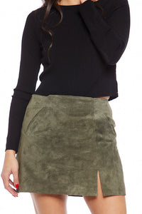 Blank NYC Venice Beach Suede Skirt