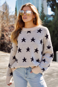 Millie Star Printed Sweater