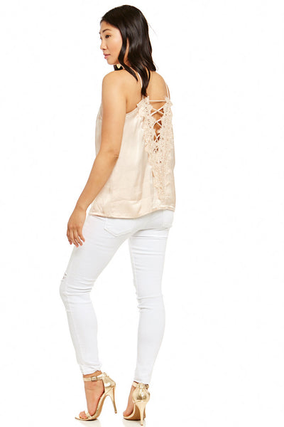 fab'rik - ROSALEEN BACK LACE UP TOP image thumbnail