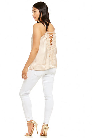 ROSALEEN BACK LACE UP TOP