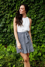 Load image into Gallery viewer, ASHER FAITH SKIRT IN NAVY