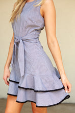 Load image into Gallery viewer, BB DAKOTA HOLLY GOLIGHTLY GINGHAM PRINT DRESS