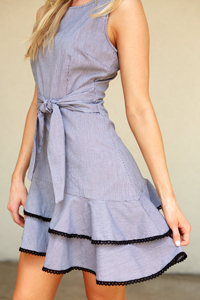fab'rik - BB DAKOTA HOLLY GOLIGHTLY GINGHAM PRINT DRESS image thumbnail