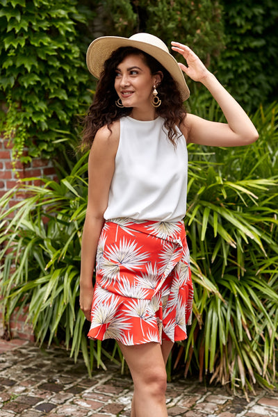 fab'rik - ASHER FAITH SKIRT IN RED image thumbnail