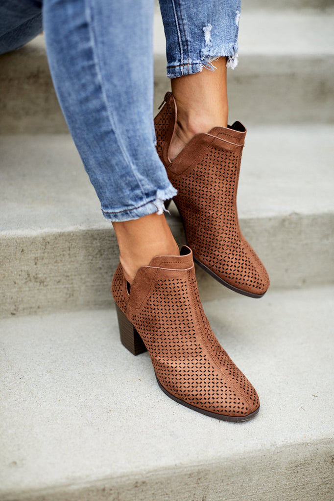 Celine Perforated Bootie