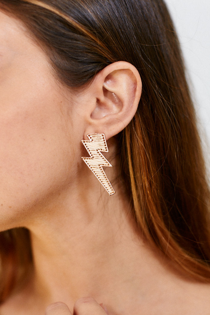 fab'rik - Sara Threaded Lightening Bolt Earrings ProductImage-13303288234042