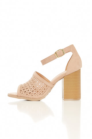 BRAMMER PREFORATED BLOCK HEELS