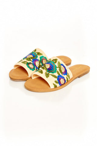 MONTANA EMBROIDERED SLIDE