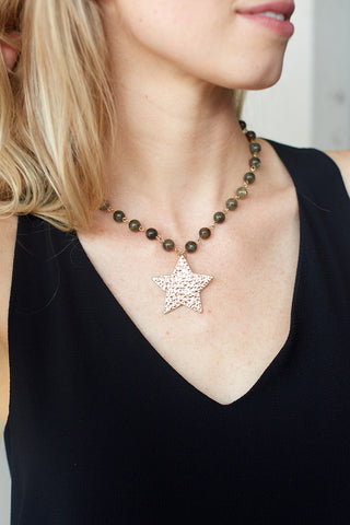 HELENA STAR STONE NECKLACE