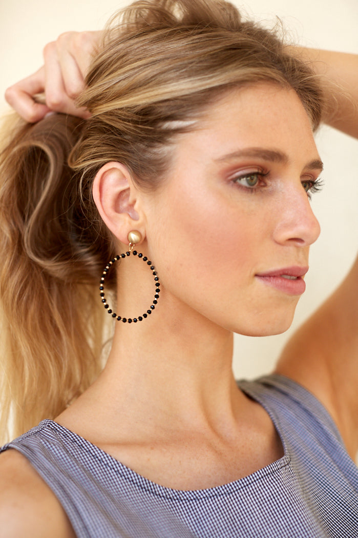fab'rik - ANSLEY BEADED HOOPS ProductImage-4619247222842