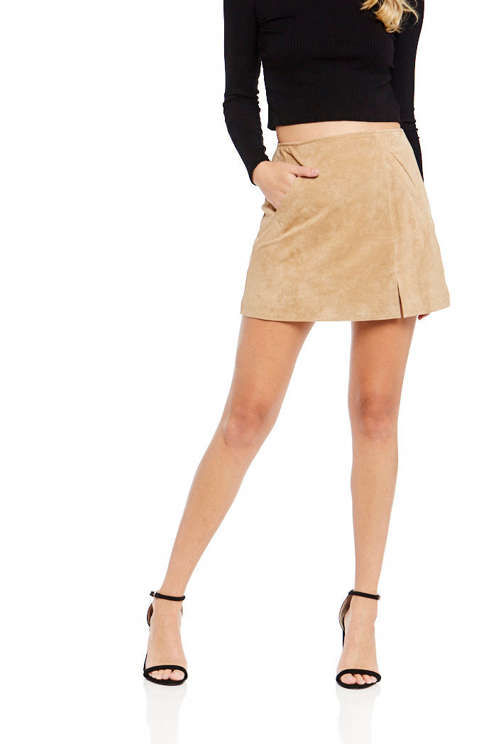 fab'rik - Blank NYC Venice Beach Suede Skirt ProductImage-7055635775546