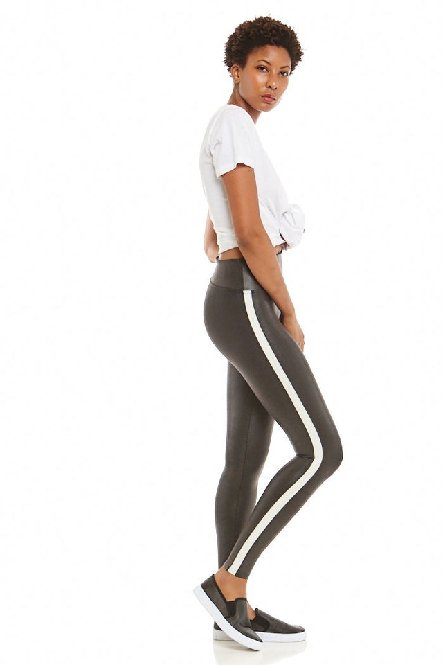 Spanx Faux Leather Stripe Leggings