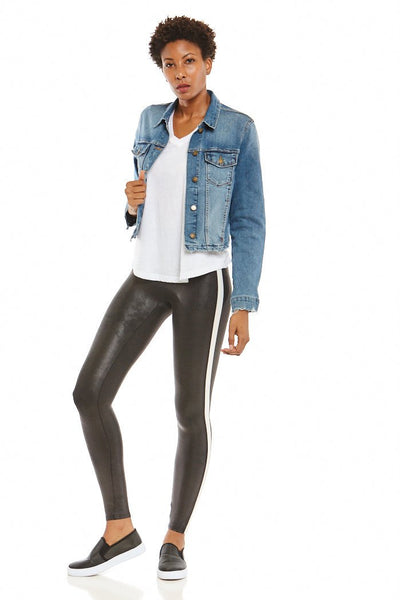fab'rik - Spanx Faux Leather Stripe Leggings image thumbnail