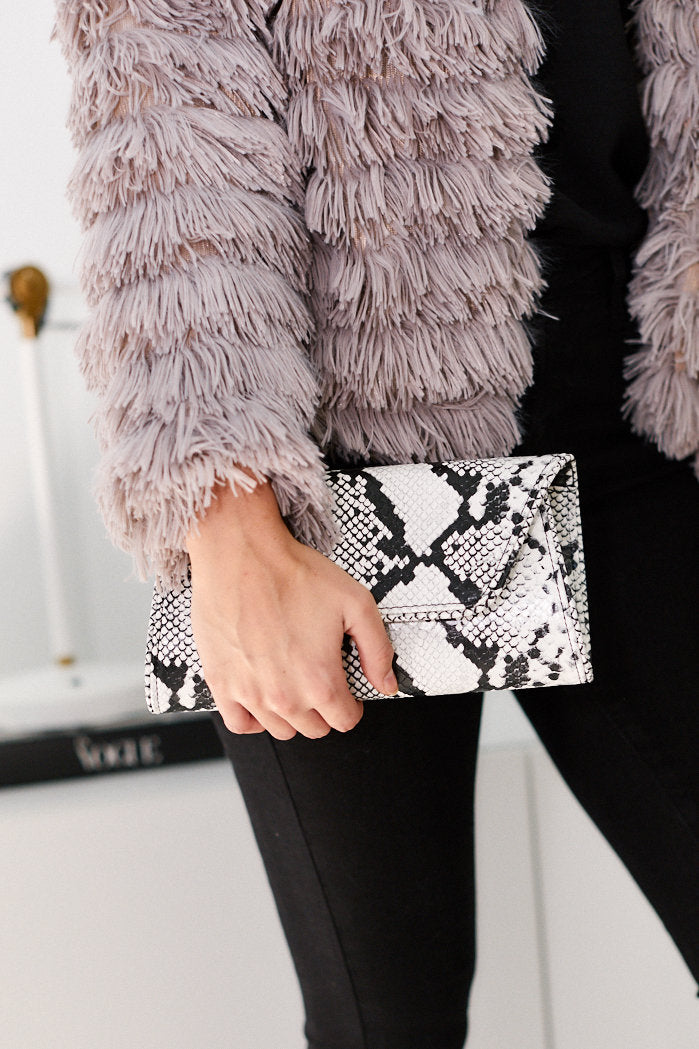 fab'rik - Out On The Town Snake Skin Clutch ProductImage-13289388048442