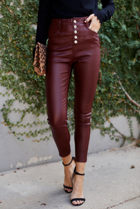 Rorie High Rise Coated Skinny Pant