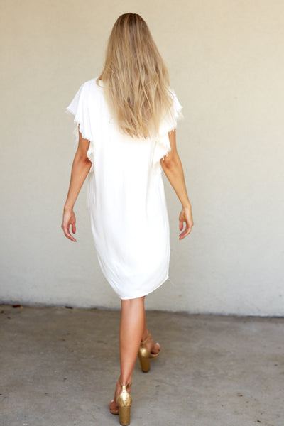 fab'rik - NATALIE FRAYED HEM SHIFT DRESS image thumbnail