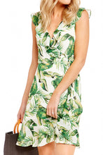Load image into Gallery viewer, GIZZY PALM PRINT WRAP DRESS