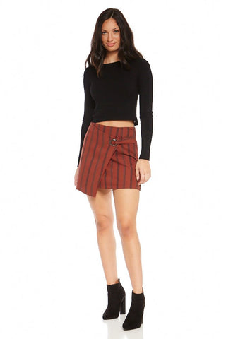 Abigail Striped Mini Skirt