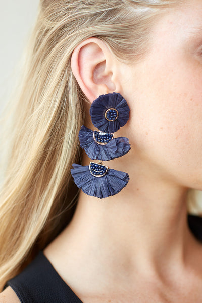 fab'rik - MARI RAFFIA EARRINGS image thumbnail