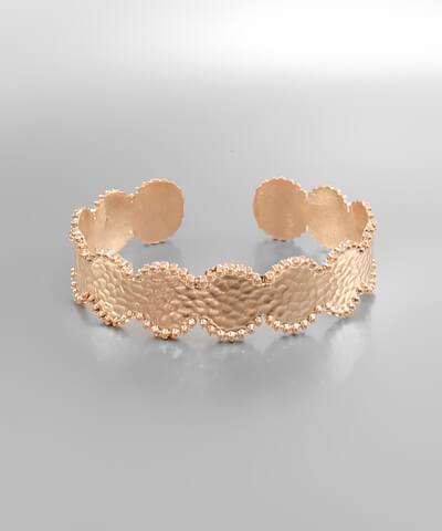 Beatrice Hammered Circle Cuff