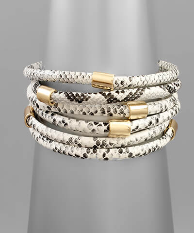 fab'rik - Birch Snakeskin Stacked Bracelet ProductImage-13848788795450