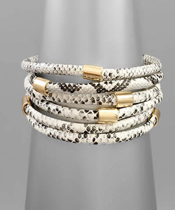 fab'rik - Birch Snakeskin Stacked Bracelet ProductImage-13848788697146